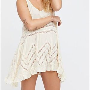 Voile and Lace Trapeze Slip Dress